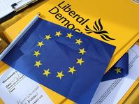 EU Flag plus LD emblem (LIberal Democrats)