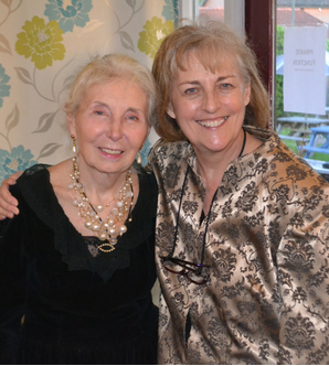 Ros Scott and Wendy Marchant at Wendy's retirement - 2019