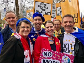 Adrian, Jo and others at 'Final Say' march