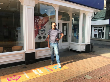 Oliver Holmes in town centre